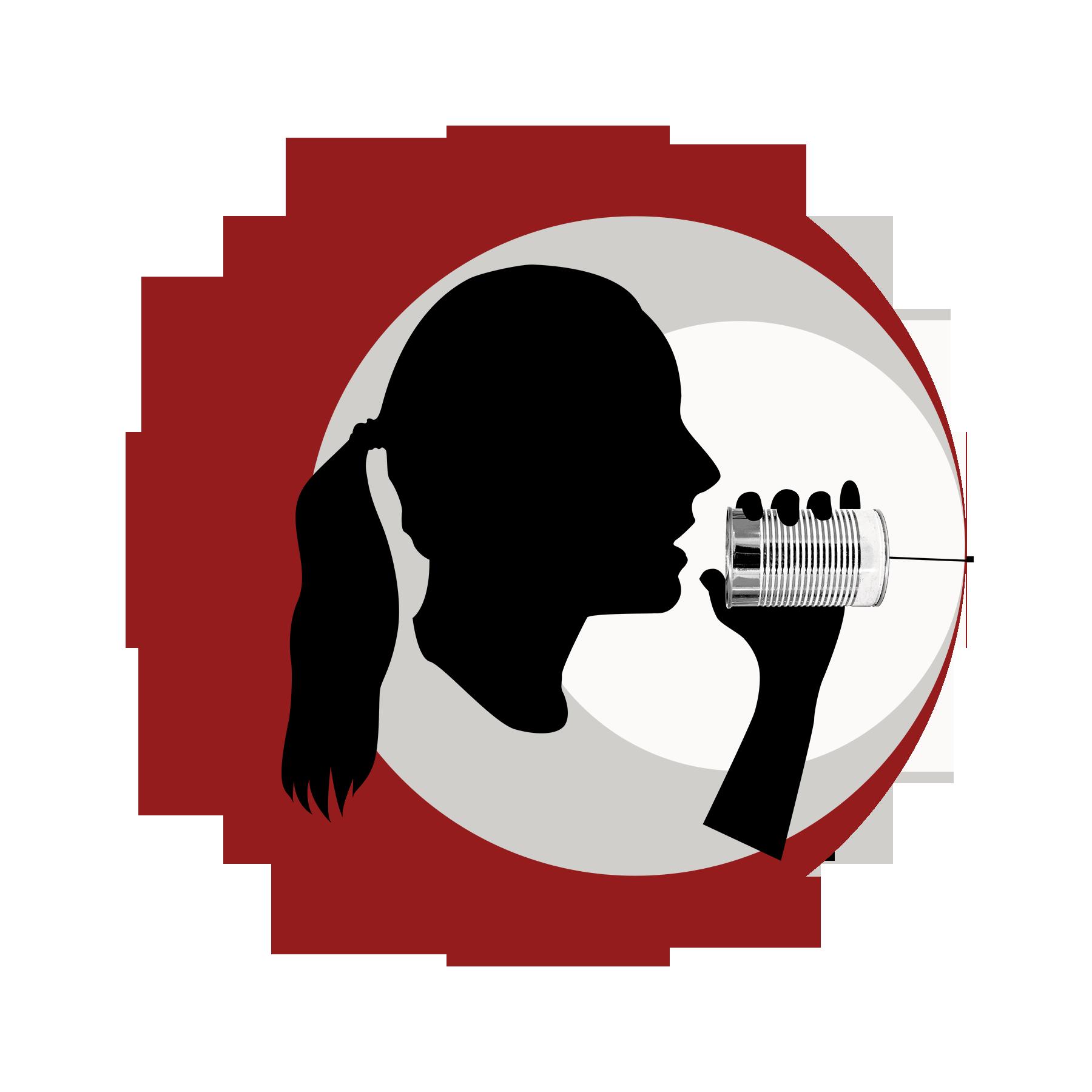 Silhouette Profil Frauenkopf hümmer kommunikation