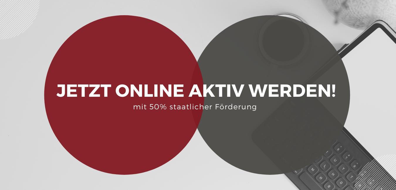 jetzt online aktiv werden! staatliche Förderung g-digital, zwei kreise