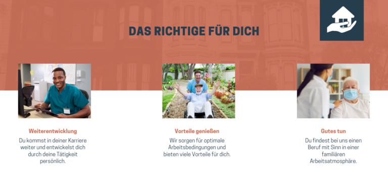 Werbung Pflegekräfte Flyer-Beispiel für das Marketing von Senioreneinrichtungen